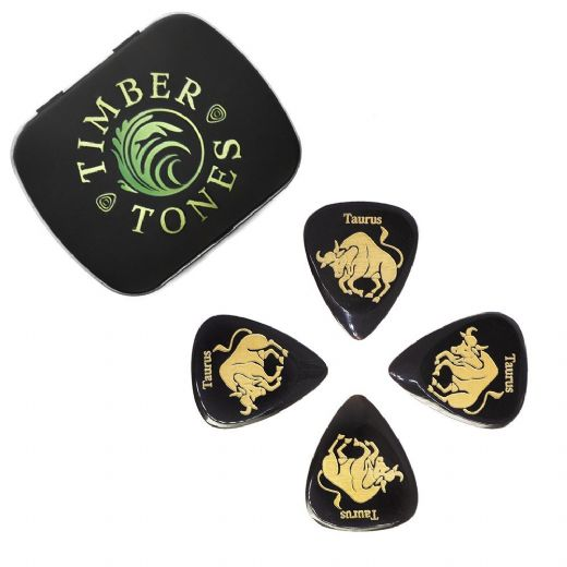 Zodiac Tones Taurus Tin of 4 Guitar Picks